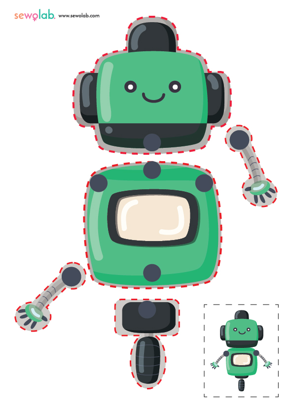 Hareketli Robot Maketi 1